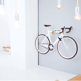 PARAX D-Rack Wall Mount Aluminium with Wooden Front, Plateado/beige